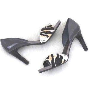 FRANCO SARTO Size 12 Nico 2 Genuine Calf Fur Heel